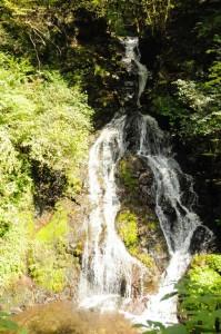 昔は干ばつ時に雨乞いが行われた白岩の滝