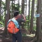 麻生山山頂へ定刻11時15分着。早めの昼食をとり30分後に金毘羅尾根経由で日の出山へ