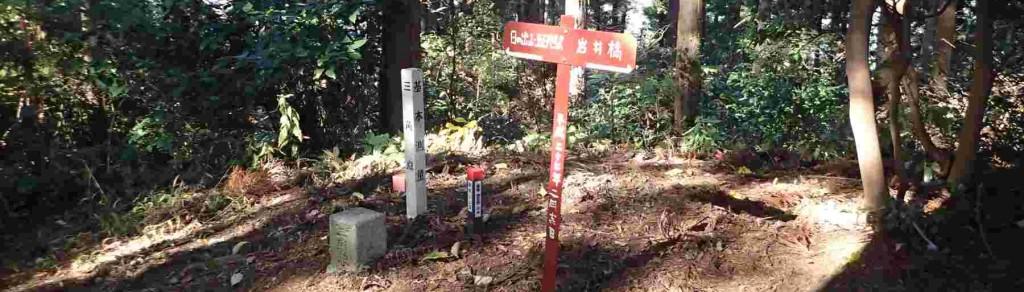 勝峰山の山頂には454.3mの3等三角点があり、将門伝説と山桜の巨樹で知られています。NPO里山と歴史にに触れ合う会が憩いの場として整備を進めています。