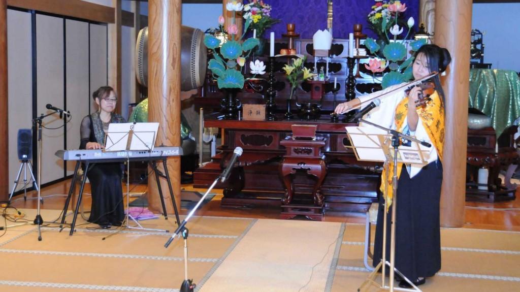 第三ステージはシンセサイザーの演奏とヴァイオリンの演奏、そしてこの地域に伝わる平将門伝説をテーマにした古代歌と古代舞が演じられました。