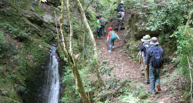 最上の段の落口に来ると道は緩やかになり、しばらくはこ滝や大岩の不作沢に沿って進む。