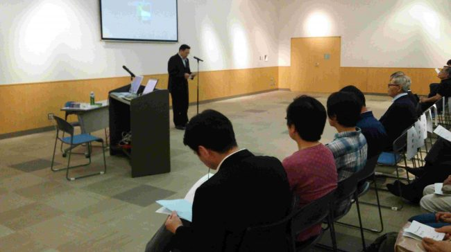 講演に先立ち、日の出町木崎副町長の挨拶がありました。